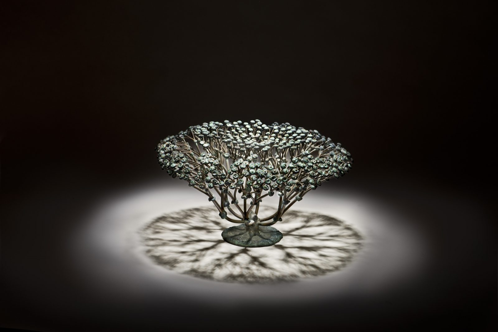 The present work is a small, elegant example of Harry Bertoia's bush-type pieces.