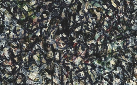 This work by Mark Tobey is an abstract composition with a multiplicity of details