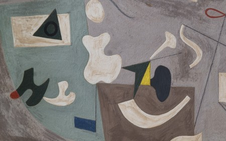 Abstract composition in grey, white and green, by Ilya Bolotowsky