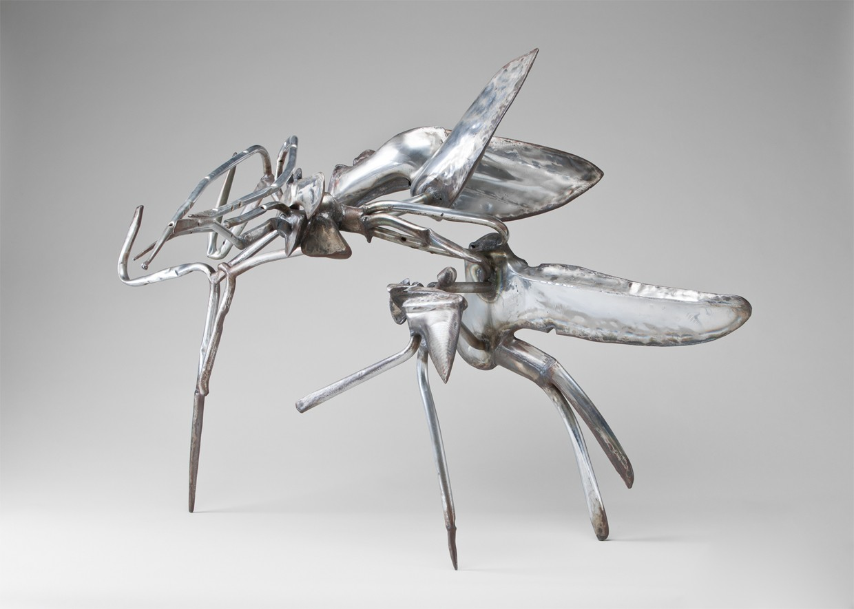 This work by Richard Hunt depicts two abstracted insects