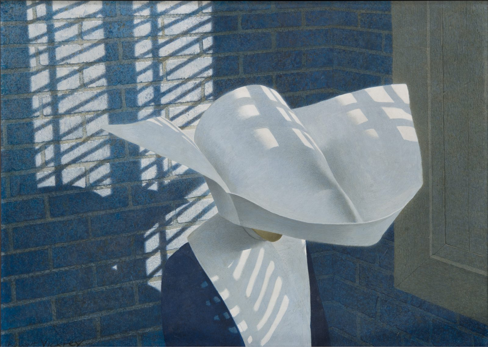 This work by Robert Vickrey shows a nun seen from above
