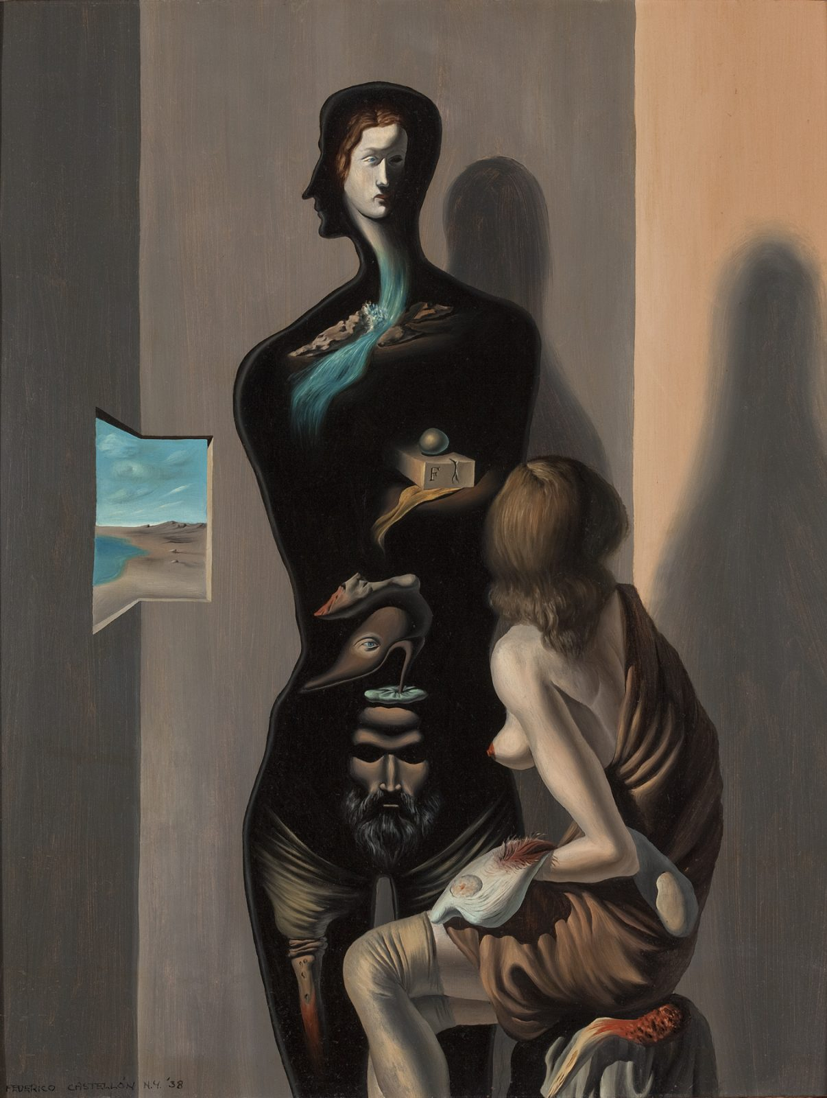This work by Federico Castellón shows two surrealist figures