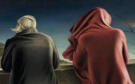 This work by Clarence H. Carter depicts two female figures seen from the back