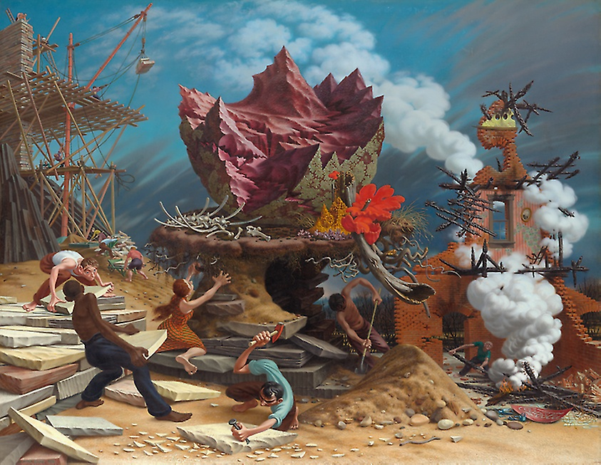 Peter Blume, The Rock, 1944-1948, oil on canvas, 57 5/8 x 74 3/8 inches, The Art Institute of Chicago, Chicago, Illinois.