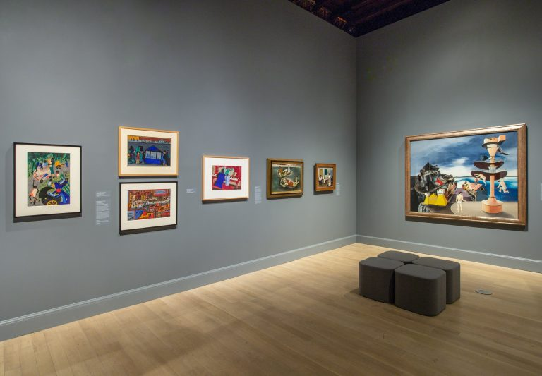 Gallery view of the exhibition, published in The New York Times