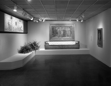 Photograph of the 1996 installation of the Thomas Dewing exhibition at the Brooklyn Museum