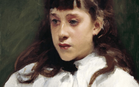 Portrait of a young girl by John Singer Sargent