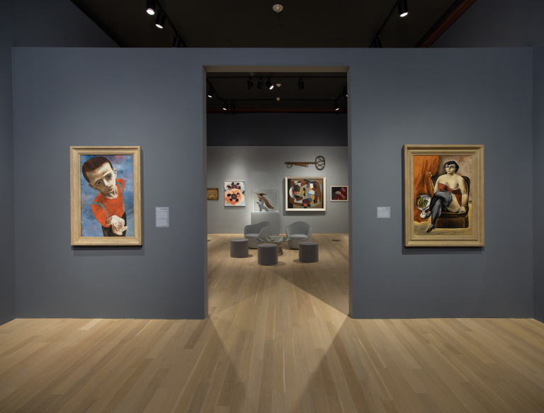 Installation view of the exhibition Edith Halpert and the Rise of American Art.