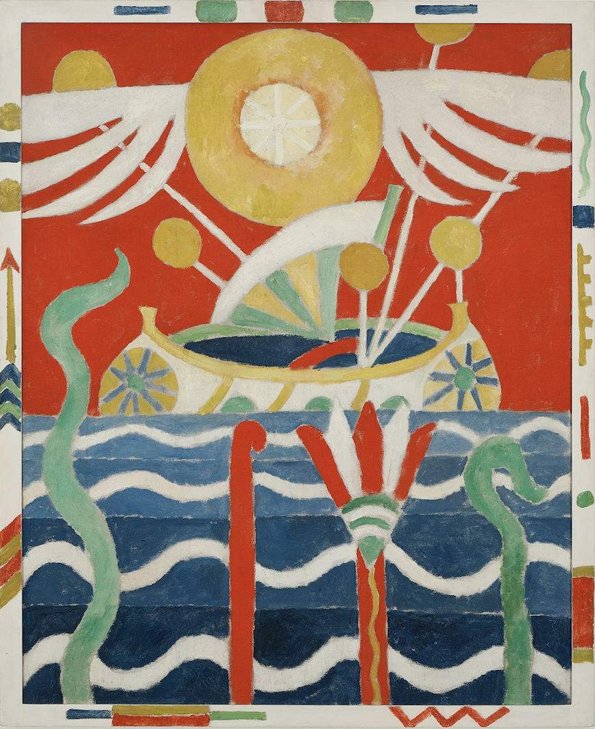 A canoe by Marsden Hartley