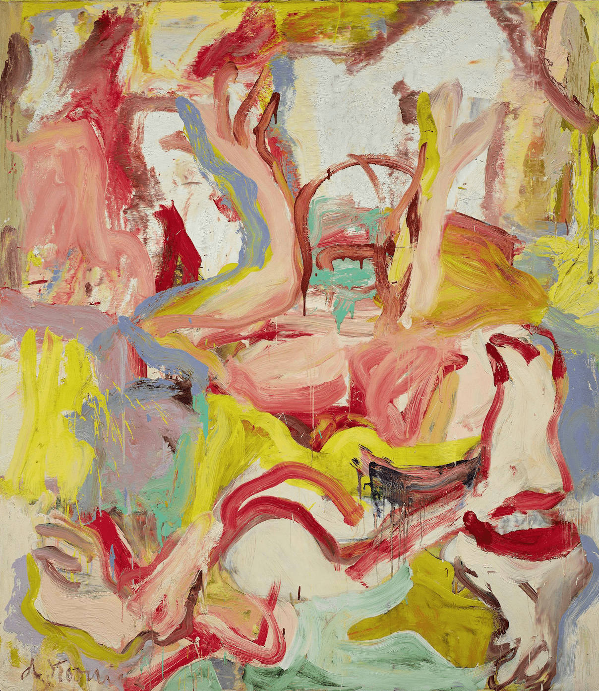 An abstract work by Willem de Kooning.