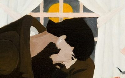 This work by Horace Pippin shows man writing a letter by a window