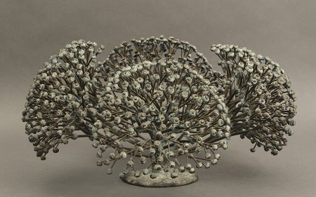 Harry Bertoia's Untitled sculpture, which resembles a bush.