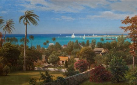Albert Bierstadt's painting of a beautiful ocean view in Nassau.