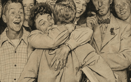 A detail image of Norman Rockwell's