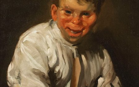George Bellows portrait of a laughing boy