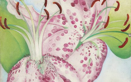Georgia O'Keeffe, American, 1887-1986. Pink Spotted Lillies, 1936. Oil on canvas. 20 x 16 inches.