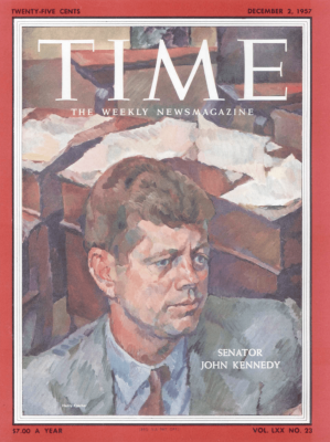Cover of TIME Magazine by Henry Koerner depicting John Kennedy