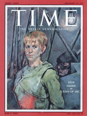 Cover of TIME Magazine by Henry Koerner depicting Julie Harris.