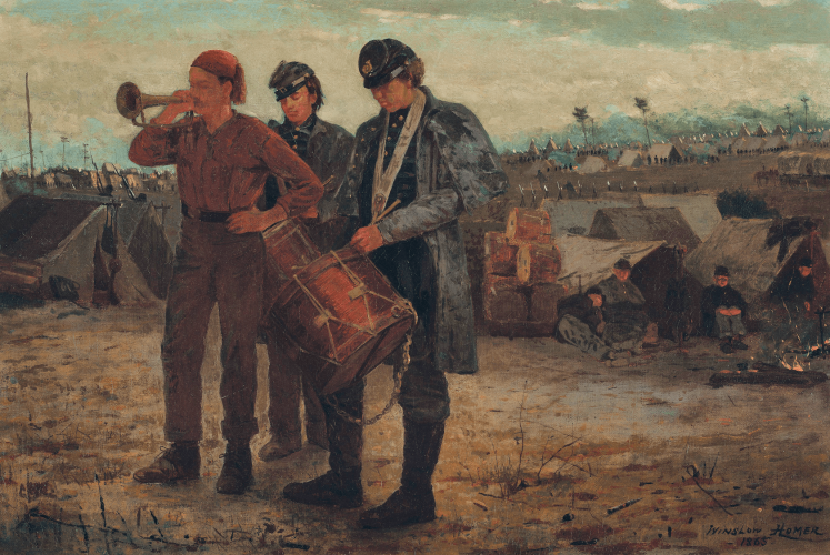 A Winslow Homer painting of Civil War military band.