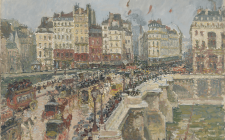 View of Le Pont-Neuf in Paris by Camille Pissarro.