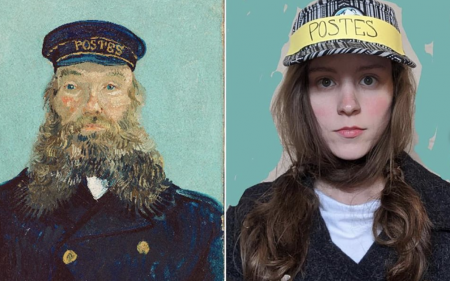 A side-by-side comparison of Vincent van Gogh's
