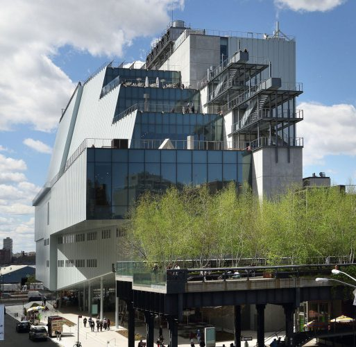 Exterior of The Whitney Museum of Art.