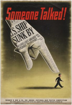 Poster by Henry Koerner showing a pointer finger at a man