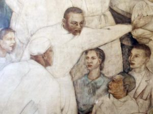 Charles Henry Alston's work features African American surgeons wearing white.
