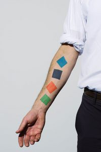 Carter Foster's Ellsworth Kelly designed tattoo.