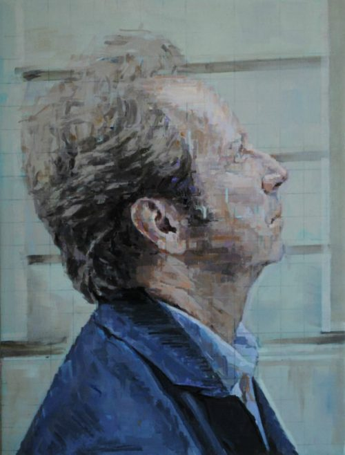Painting of Joseph Leo Koerner's profile